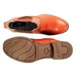 bota botina cano curto em couro legitimo