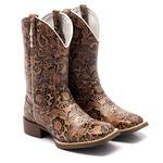 bota texana feminina bordada floral