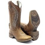 bota texana feminina com recortes a laser