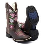 Bota Texana feminina Franca Boots flores