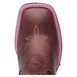 bota texana feminina com recortes a laser rosa