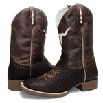 BOTA TEXANA COUNTRY MASCULINA BORDADA BOI REPLICA SNIKER