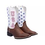 Texana Bico Quadrado BORDADA USA