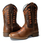 BOTA TEXANA BORDADA FERRADURA FB51
