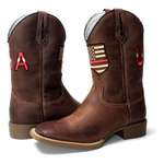 BOTA TEXANA MASCULINA BORDADA USA FB54