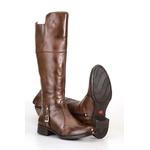 Texana Montaria Estilo Over The Knee Em Couro