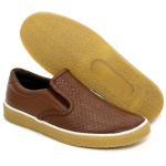 SAPATÊNIS SLIP ON POLO CITY DE COURO MOSCOW - WHISK