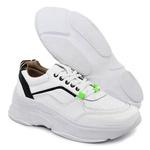 Tênis De Couro Griffe Sneaker Chunky Dad Branco/Zebra