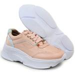 Tênis De Couro Griffe Sneaker Chunky Dad Flamingo