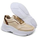 Tênis De Couro Griffe Sneaker Chunky Dad Perola