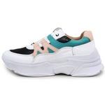 Tênis Feminino De Couro Chunky Sneaker De Griffe Branco
