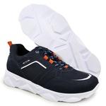 Tênis Chunky Sneaker Masculino Tracker Em Couro Camurça Marinho