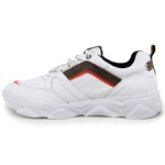 Tênis Chunky Sneaker Masculino Tracker Em Couro Branco