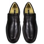 Sapato Casual Conforto Couro Floater Café 3040