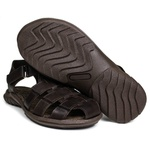Sandália Papete Masculina de Couro Chocolate 6500