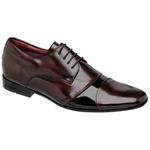 Sapato Social Oxford Lincoln Cromo Pinhão/Preto