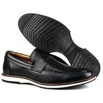 Sapato Masculino Brogue Comfort Preto 8001