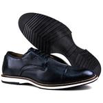 Sapato Masculino Brogue Derby Comfort Marinho 8005