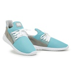 Tênis Caminhada Feminino Confortável Azul Celeste 15002