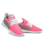Tênis Caminhada Feminino Confortável Pink 15002