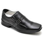 Sapato Casual Conforto Couro de Carneiro Preto 02W
