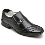 Sapato Casual Conforto Couro de Carneiro Preto 04W