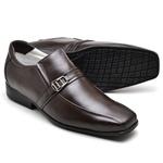 Sapato Casual Conforto Couro de Carneiro Café 005