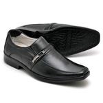 Sapato Casual Conforto Couro de Carneiro Preto 011