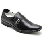 Sapato Casual Conforto Couro de Carneiro Preto 012