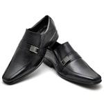 Sapato Casual Conforto Couro de Carneiro Preto 013
