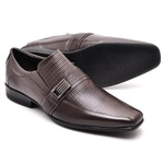 Sapato Casual Conforto Couro de Carneiro Café 013