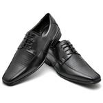 Sapato Casual Conforto Couro de Carneiro Preto 014