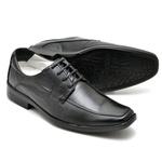 Sapato Casual Conforto Couro de Carneiro Preto 015