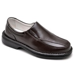 Sapato Casual Conforto Couro de Carneiro Marrom 2001