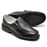 Sapato Casual Conforto Couro de Carneiro Preto 2001