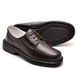 Sapato Casual Conforto Couro de Carneiro Marrom 2002
