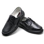 Sapato Casual Conforto Couro de Carneiro Preto 2002