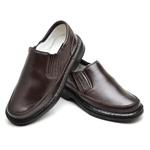 Sapato Casual Conforto Couro de Carneiro Marrom 2009