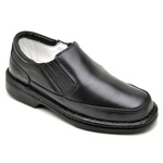 Sapato Casual Conforto Couro de Carneiro Preto 2009