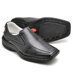 Sapato Casual Conforto Couro de Carneiro Preto 2015