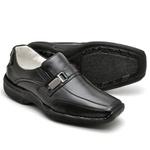 Sapato Casual Conforto Couro de Carneiro Preto 2016