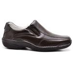 Sapato Casual Conforto Couro de Carneiro Marrom 2017