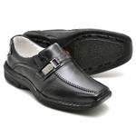 Sapato Casual Conforto Couro de Carneiro Preto 2018