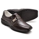 Sapato Casual Conforto Couro de Carneiro Marrom 2018