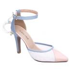 Sapato Scarpin Torricella Azul e Rosa 66090