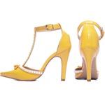 Sapato Scarpin Torricella Amarelo 66058E