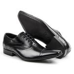 Sapato Social Masculino Couro Preto 341