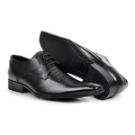 Sapato Social Masculino Couro Preto 363