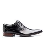 Sapato Social Masculino Couro Verniz Preto 379