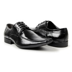 KIT 01 Par de Sapatos Preto + Cinto + Porta Cédulas + Calçadeira